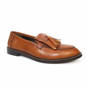 auburn leather loafer