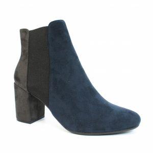 indigo heeled ankle boot